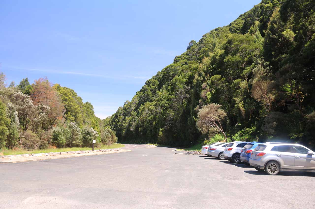 Back at the Nelson Falls car park
