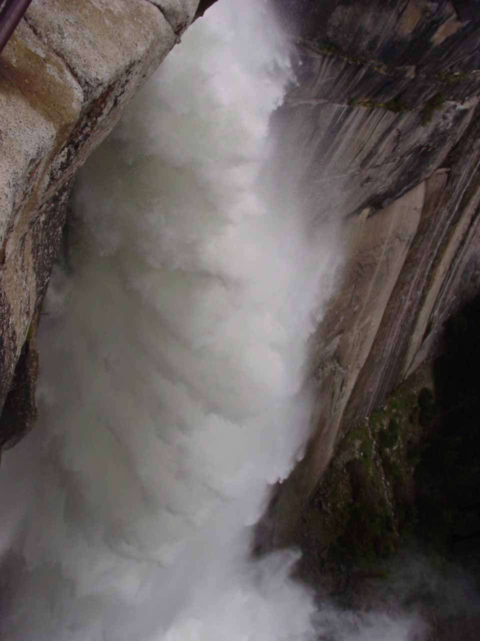 The brink of Nevada Fall