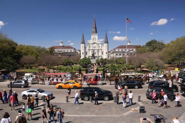 New_Orleans_268_03132016 - The French Quarter of New Orleans was definitely quite the atmospheric and happening place, but it was also scenic and charming in its own right, especially in spots like Jackson Square shown here