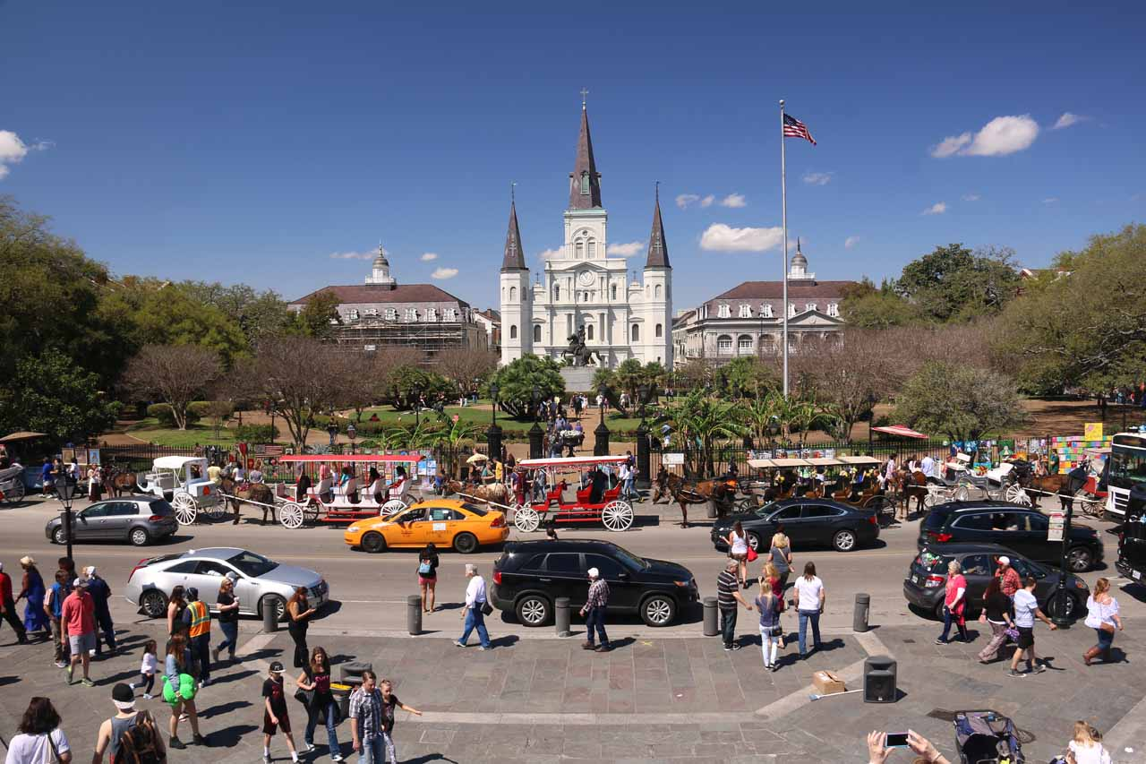 The French Quarter of New Orleans was definitely quite the atmospheric and happening place, but it was also scenic and charming in its own right, especially in spots like Jackson Square shown here