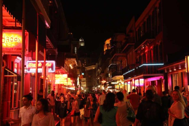 New_Orleans_820_03142016 - While Royal Street might have commanded more foot traffic during the daylight hours in the French Quarter, Bourbon Street just one block over really came alive in the evening