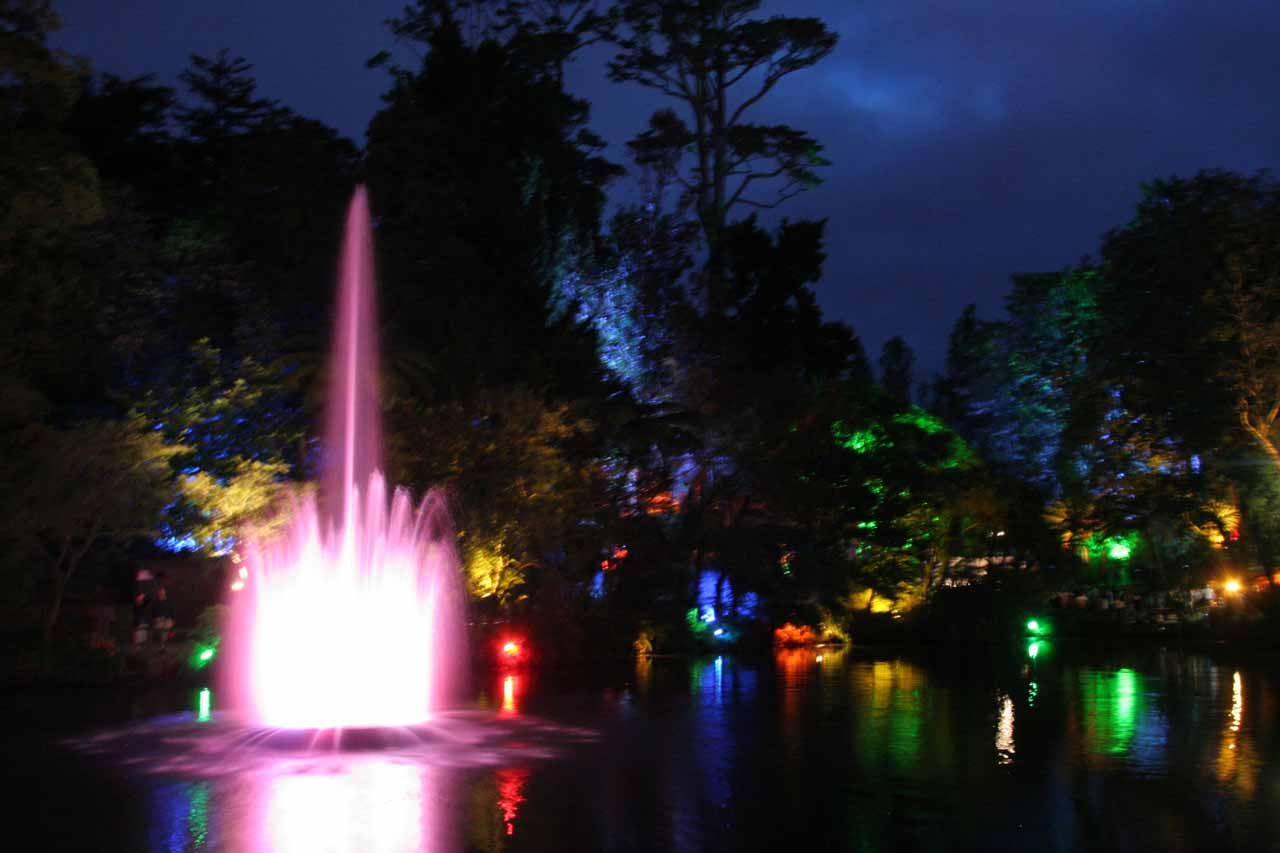 On our second visit to the Taranaki area of New Zealand in January 2010, we checked out the Festival of Lights in New Plymouth, which was a really neat experience