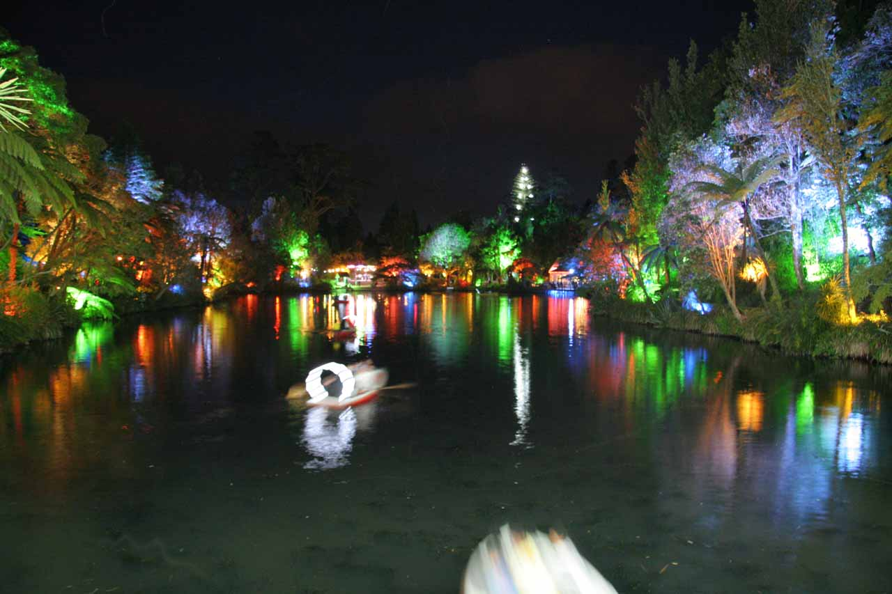 On our second visit to the Taranaki area of New Zealand in January 2010, we checked out the Festival of Lights in New Plymouth (where we were staying), which was a really neat experience