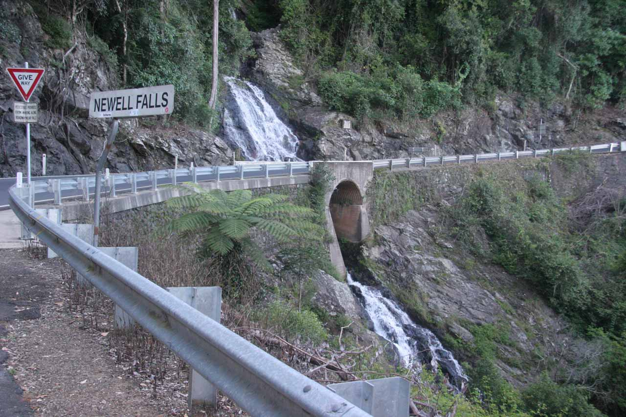 The signpost from the small car park for Newell Falls