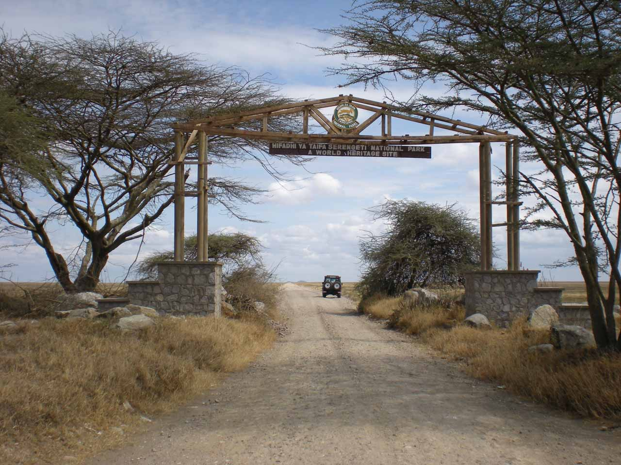 Leaving Ngorongoro Conservation Area and entering the Serengeti National Park