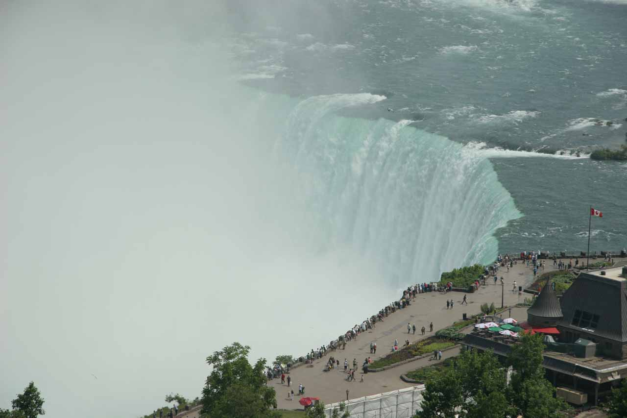 Looking down at Horseshoe Falls from our hotel room