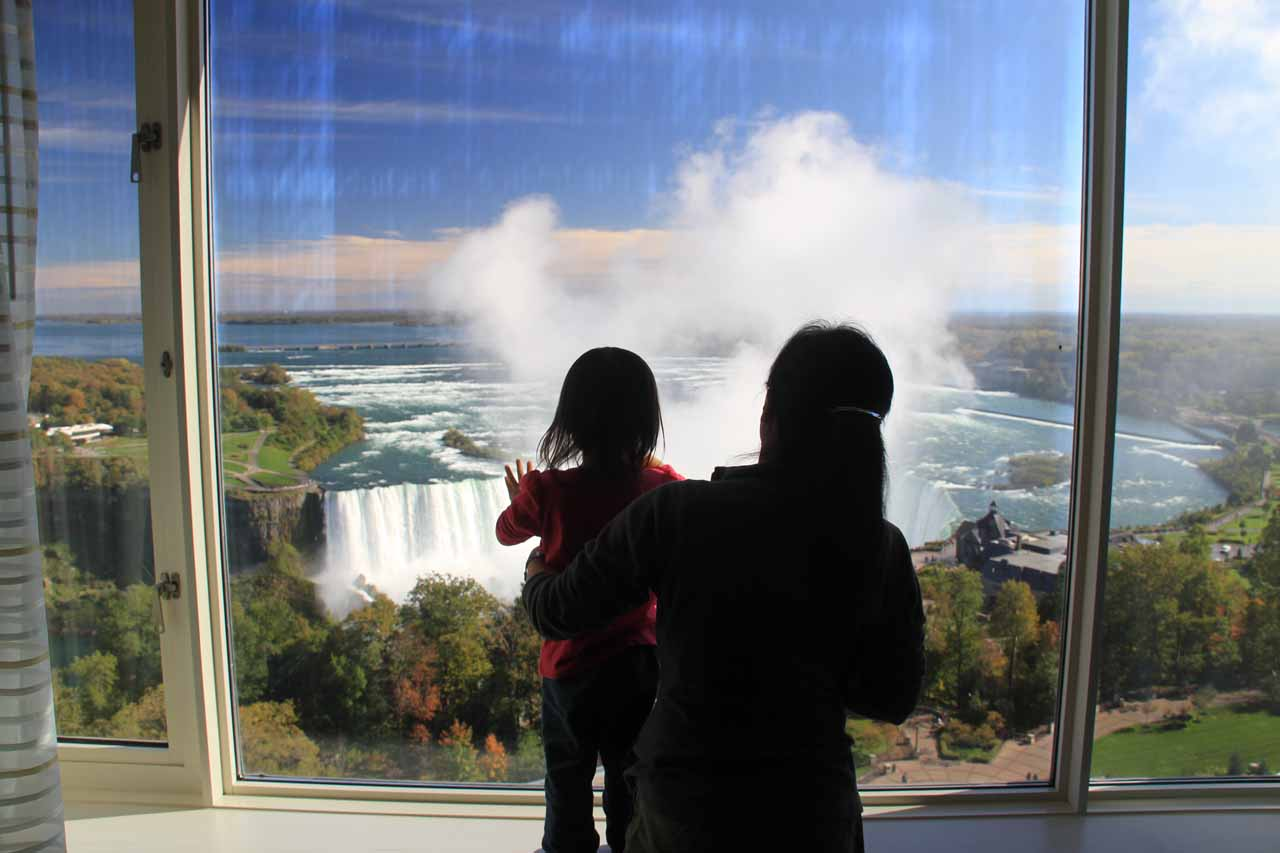 A second visit to Niagara Falls was very rewarding as we got to see Tahia's reaction to one of the Big 3 Waterfalls left in the world...