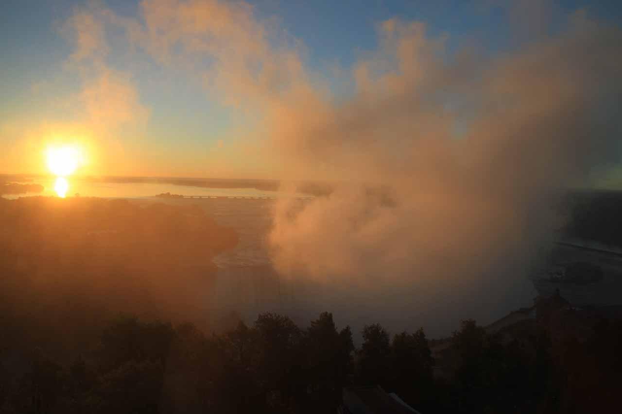 Early morning view of Niagara Falls