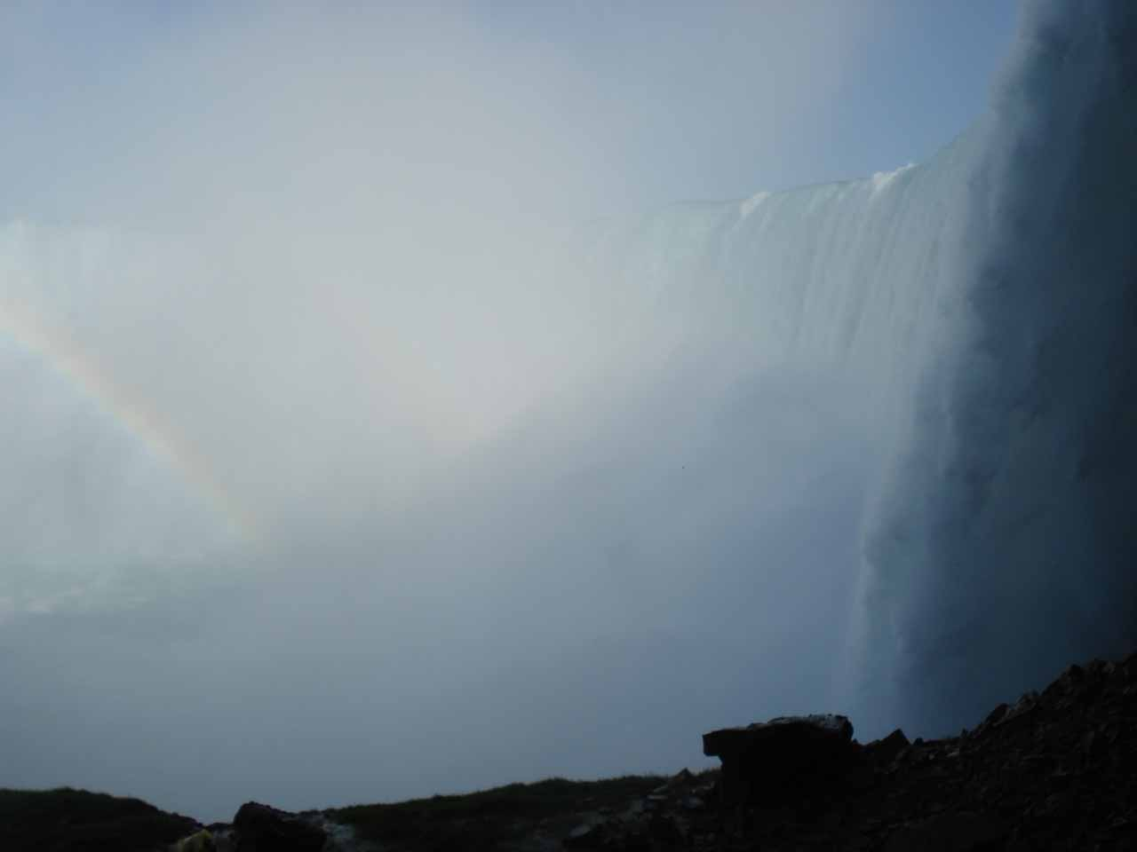 A very in-your-face look at Horseshoe Falls from Journey Behind the Falls