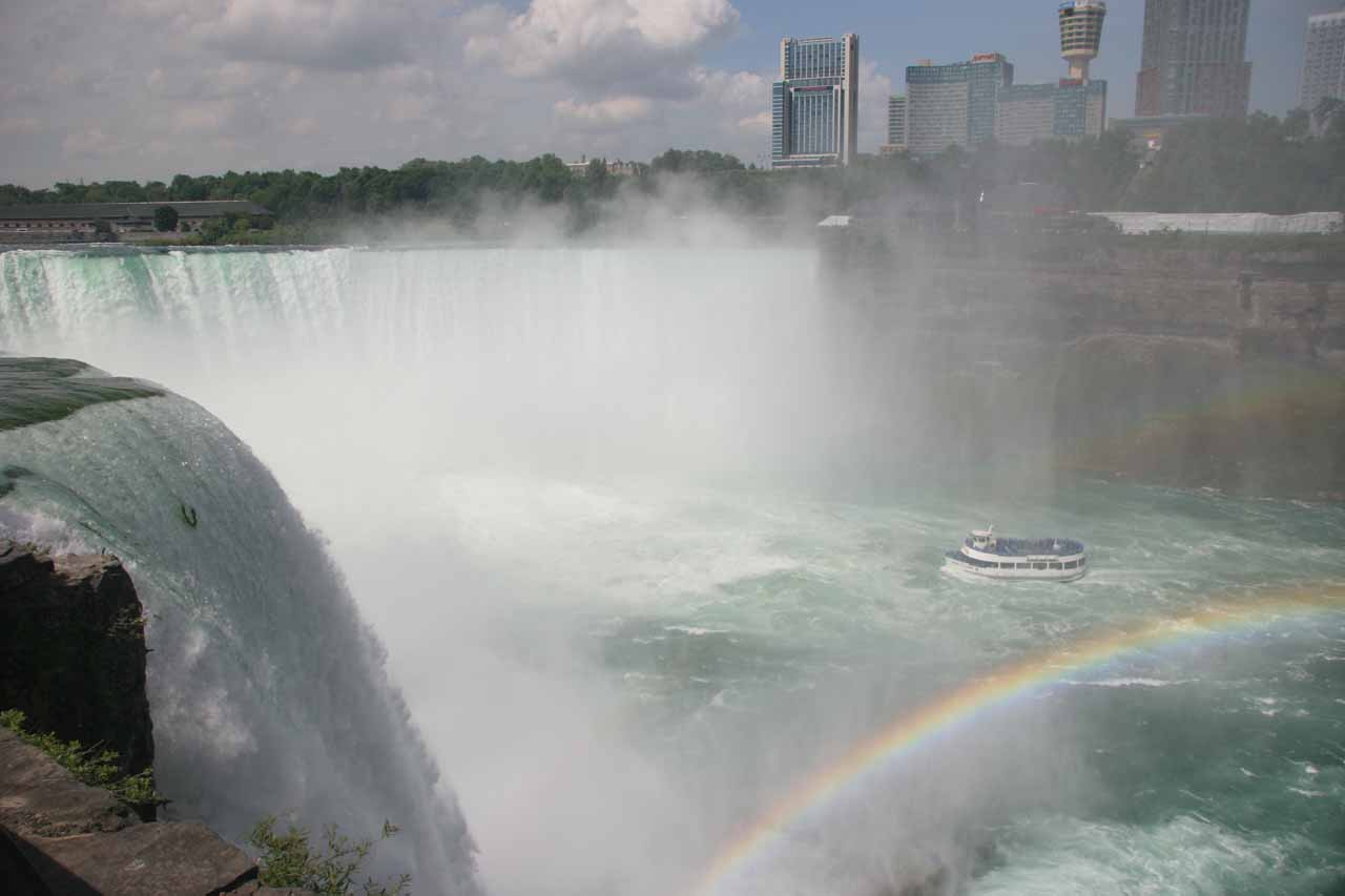 Double rainbow from Terrapin Point at the brink of Niagara Falls on the US side
