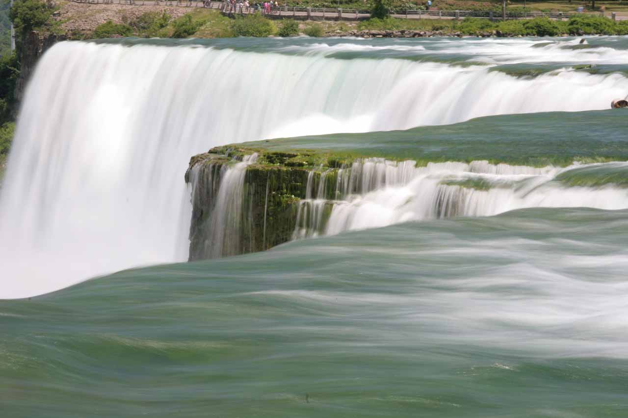Getting a very close look at the American Falls