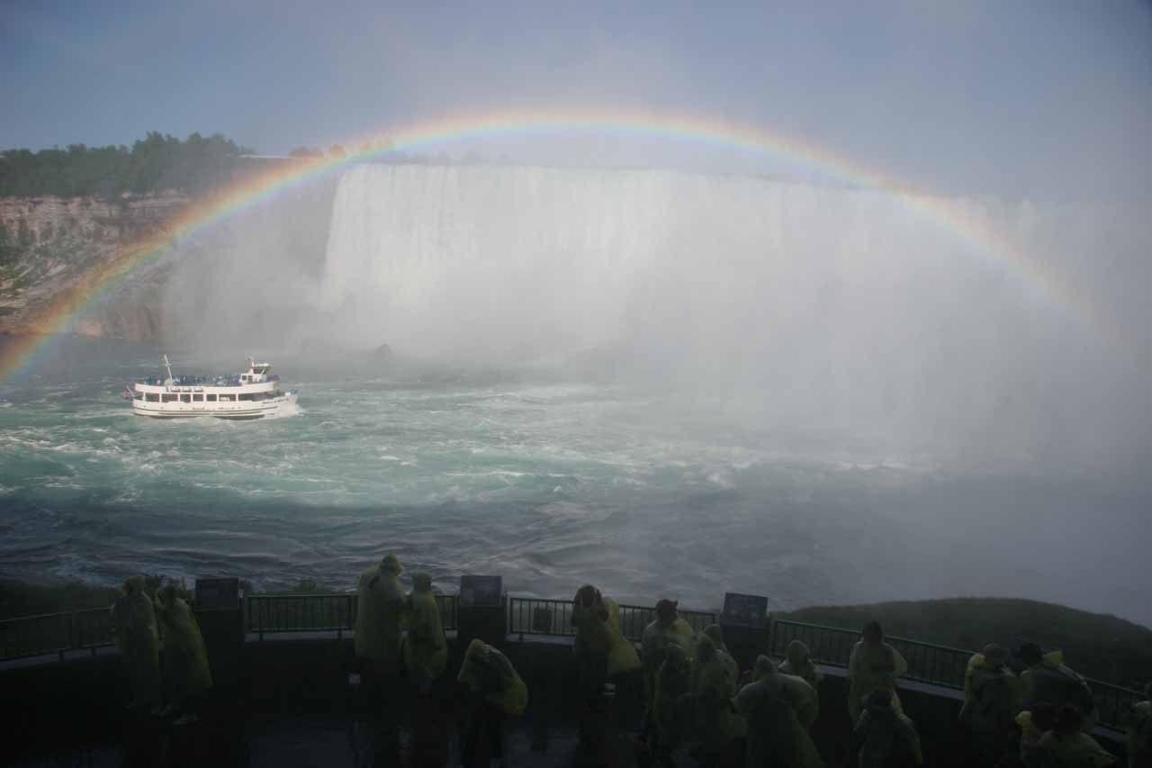 Mist everywhere as we looked towars the Horseshoe Falls and the Maid of the Mist