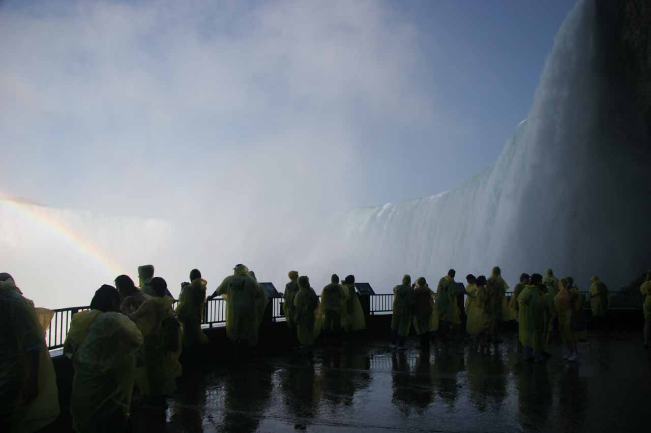 View from the lower deck on the Journey Behind the Falls Tour