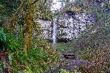 Niagara_and_Pheasant_Creek_Falls_058_04082021 - Approaching the picnic table fronting Pheasant Creek Falls at the very end of the Niagara Falls Trail