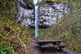 Niagara_and_Pheasant_Creek_Falls_084_04082021 - Last look back at the Pheasant Creek Falls and the neighboring picnic table