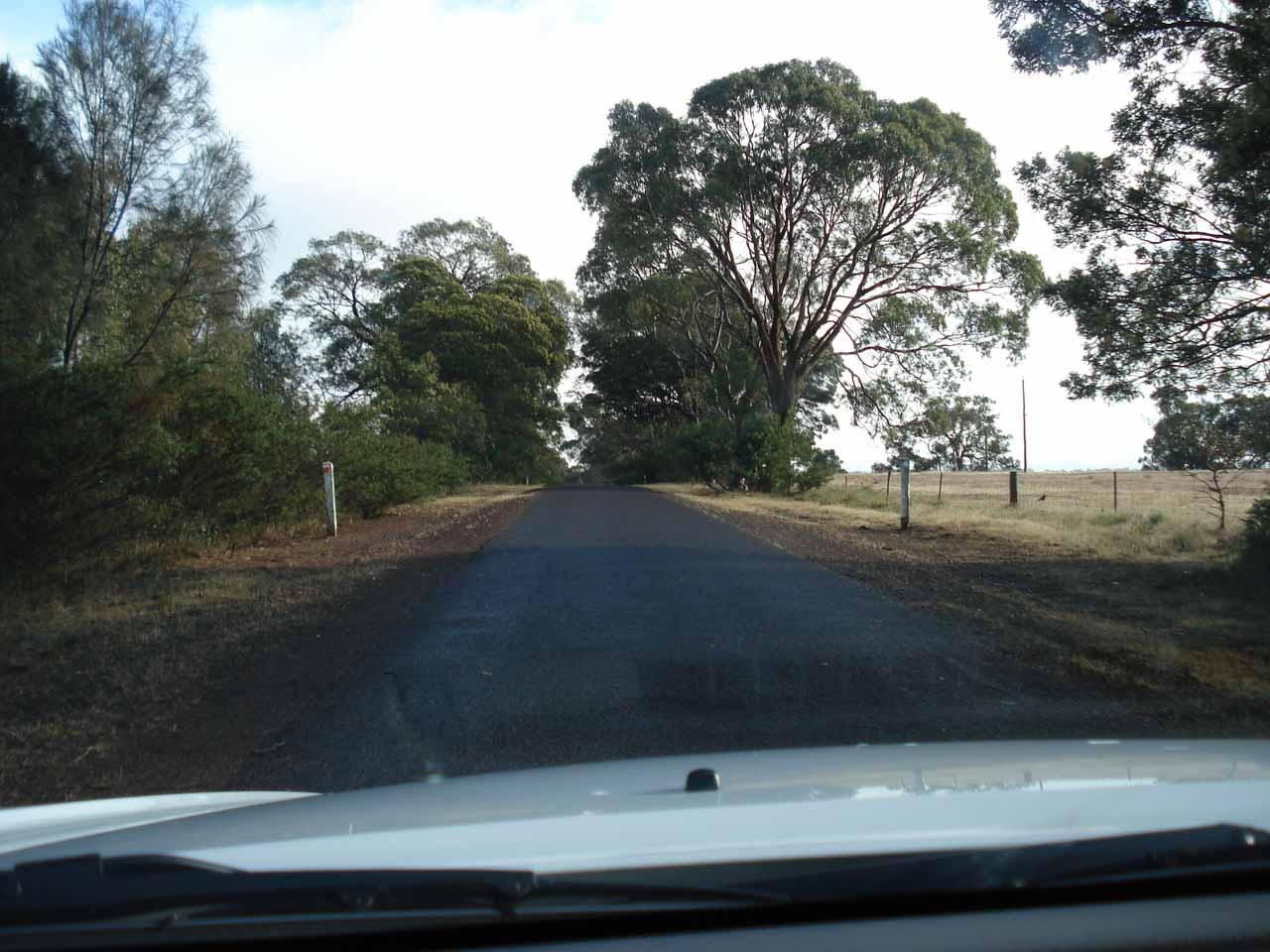 On the Wannon-Nigretta Falls Road bound for Nigretta Falls after visiting Wannon Falls