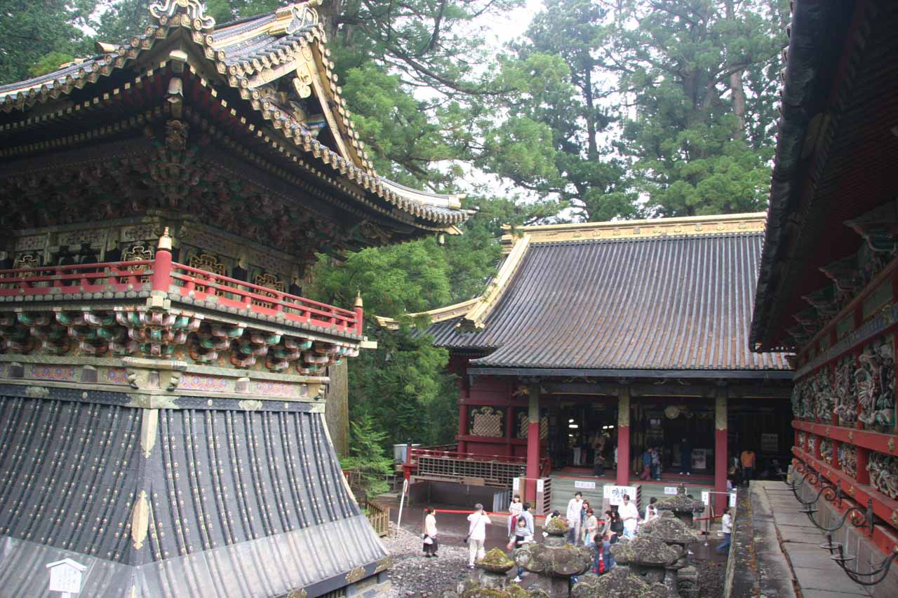 Another look at the buildings of the Toshogu Shrine area in Nikko