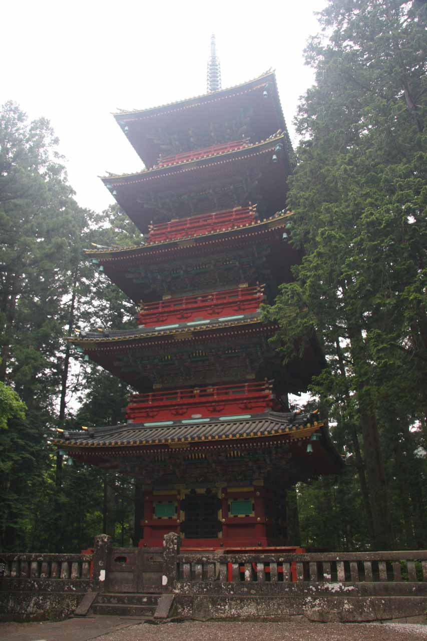 A tall pagoda between the Toshugu Shrine and the Taiyun Mausoleum Area