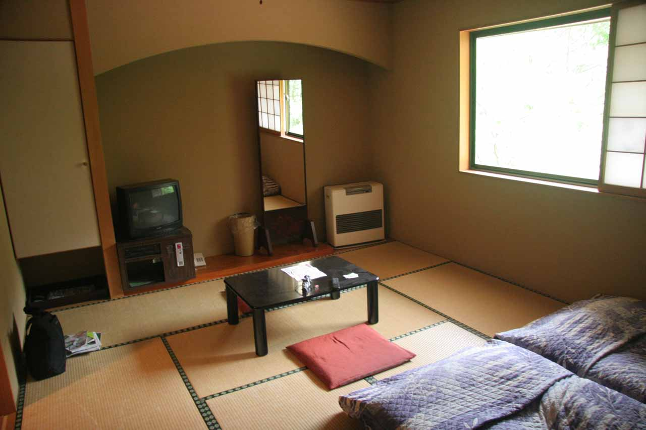 Our Japanese style room in Nikko