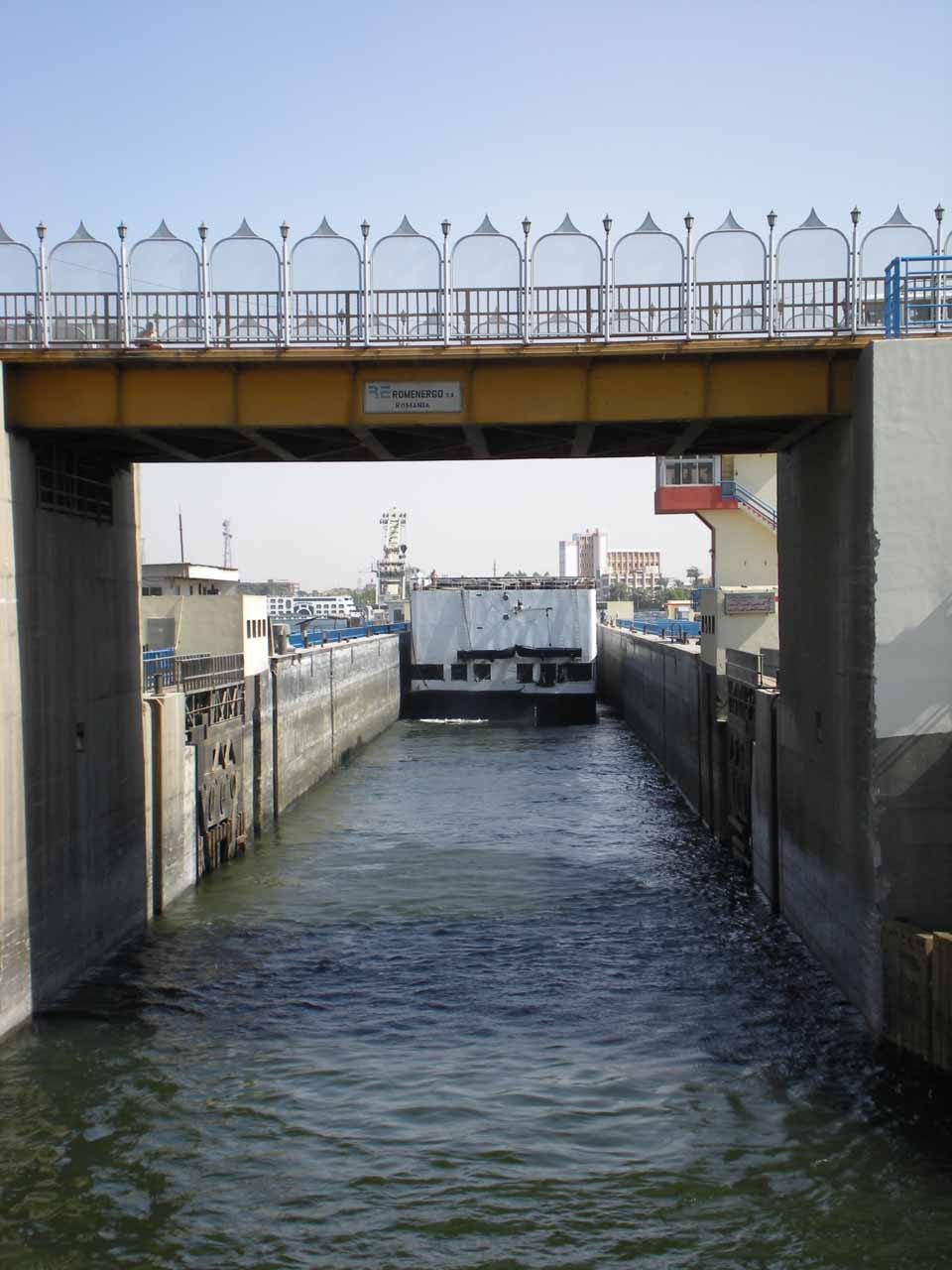 Entering the Esna Lock