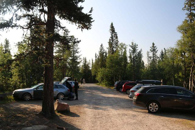 Njupeskar_002_07142019 - The car park at Njupeskär Waterfall in the Fulufjället National Park