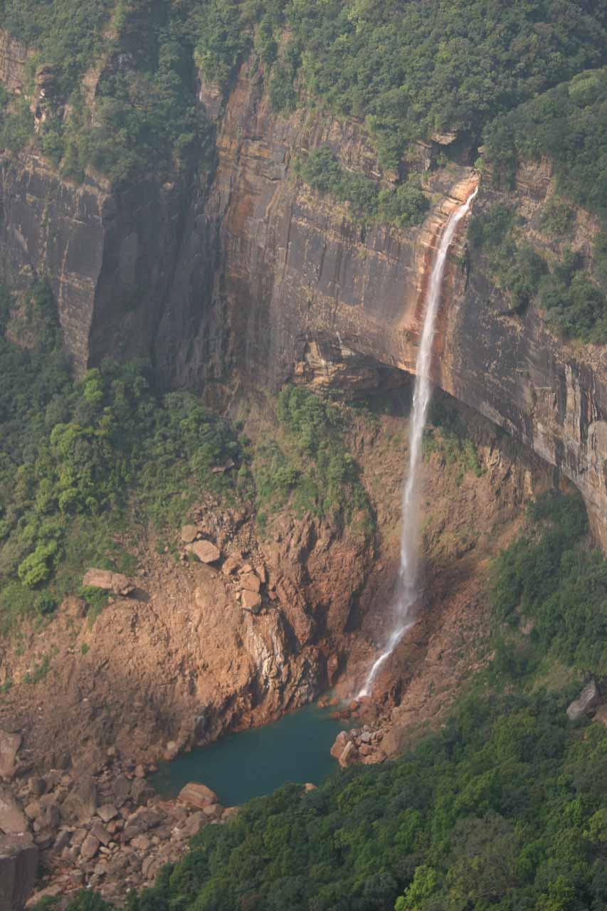 Close look at the falls