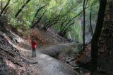 Nojoqui_Falls_011_02132009 - Julie approaches Nojoqui Falls