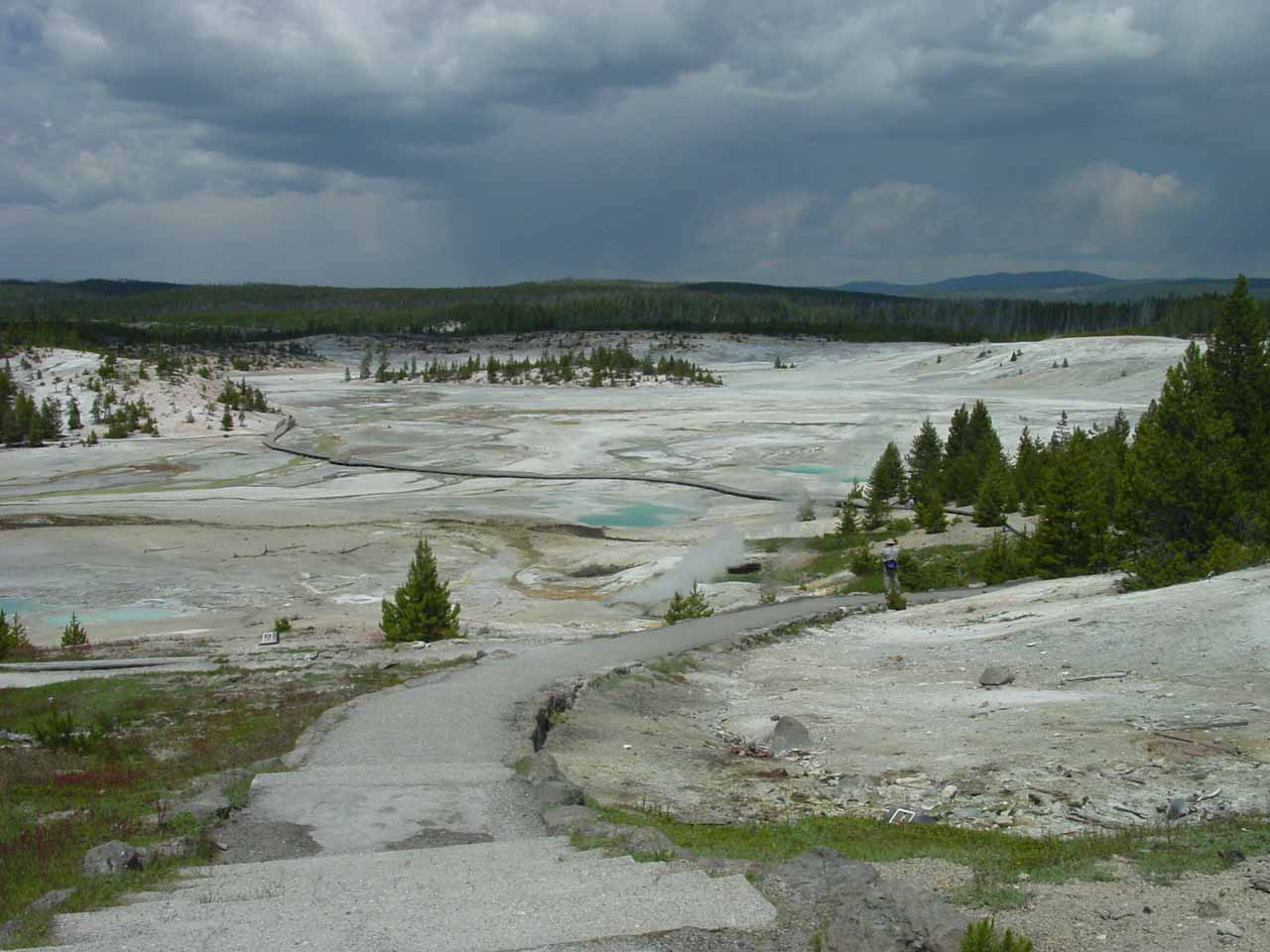 Big Sky was one of the towns set up for tourism as it was on the way to west entrance of Yellowstone National Park where the very active Norris Geyser Basin was further east of that entrance