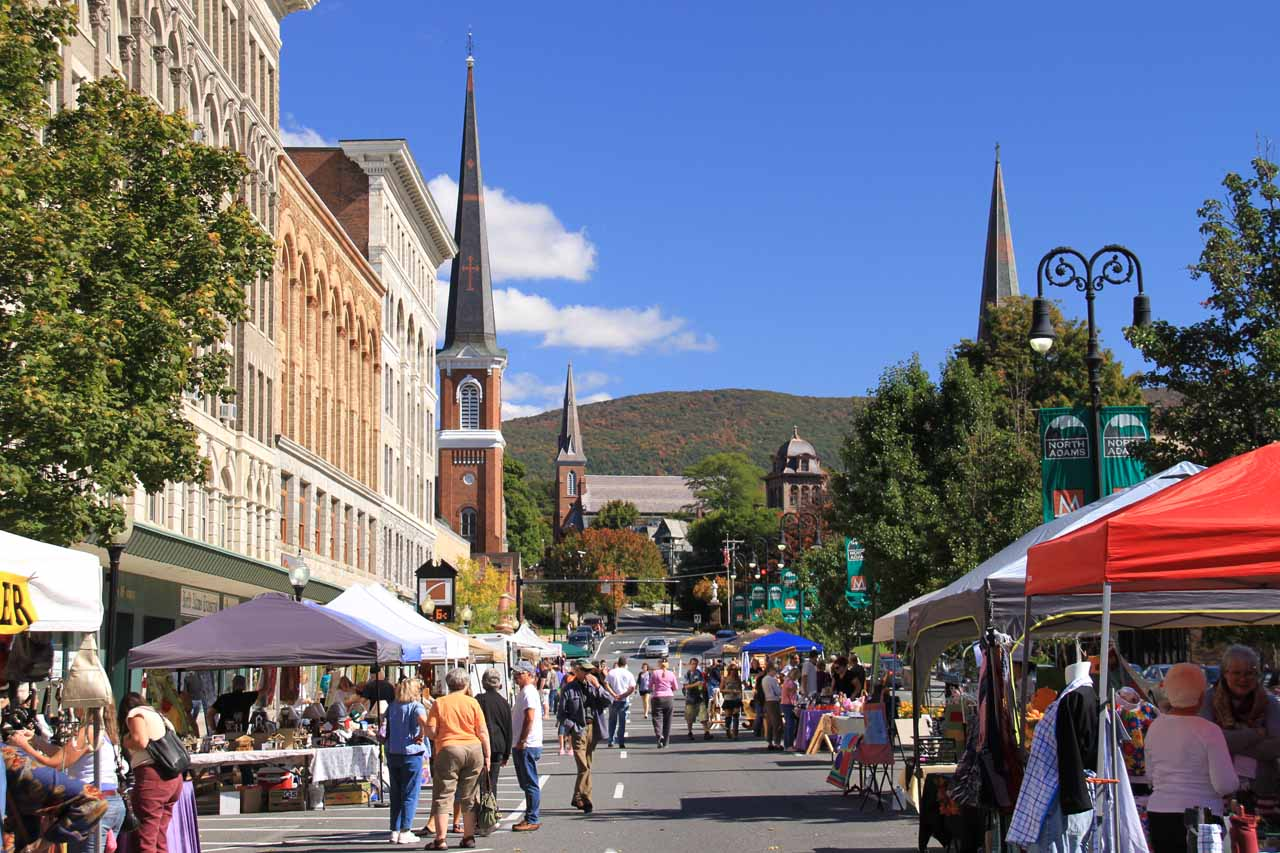 The Sunday Market at Main Street in North Adams