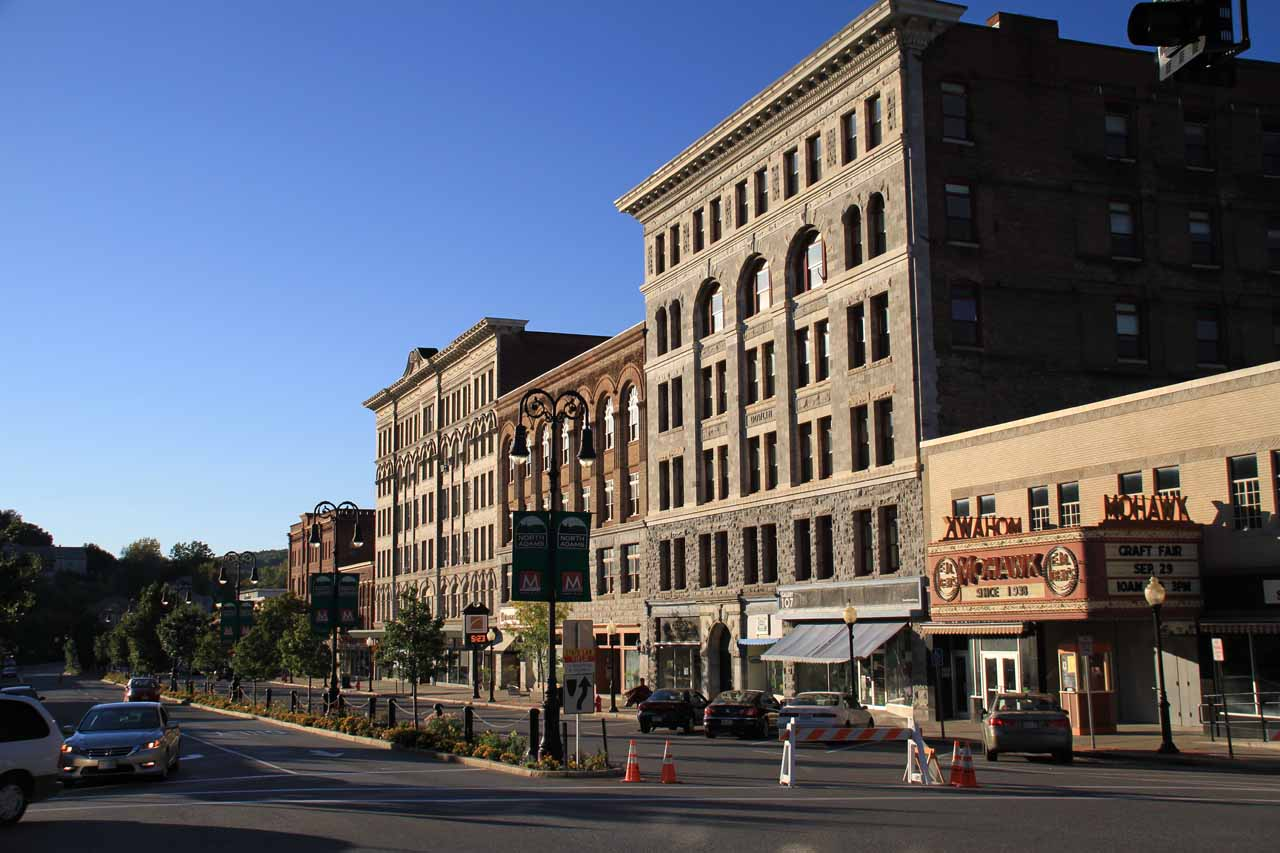 The buildings on Main Street of North Adams