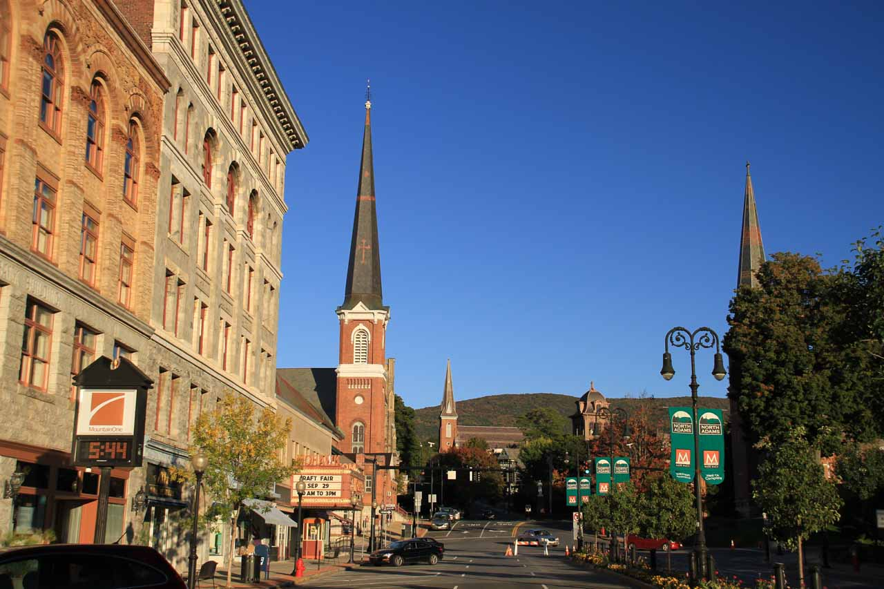 Late afternoon look at Main Street of North Adams