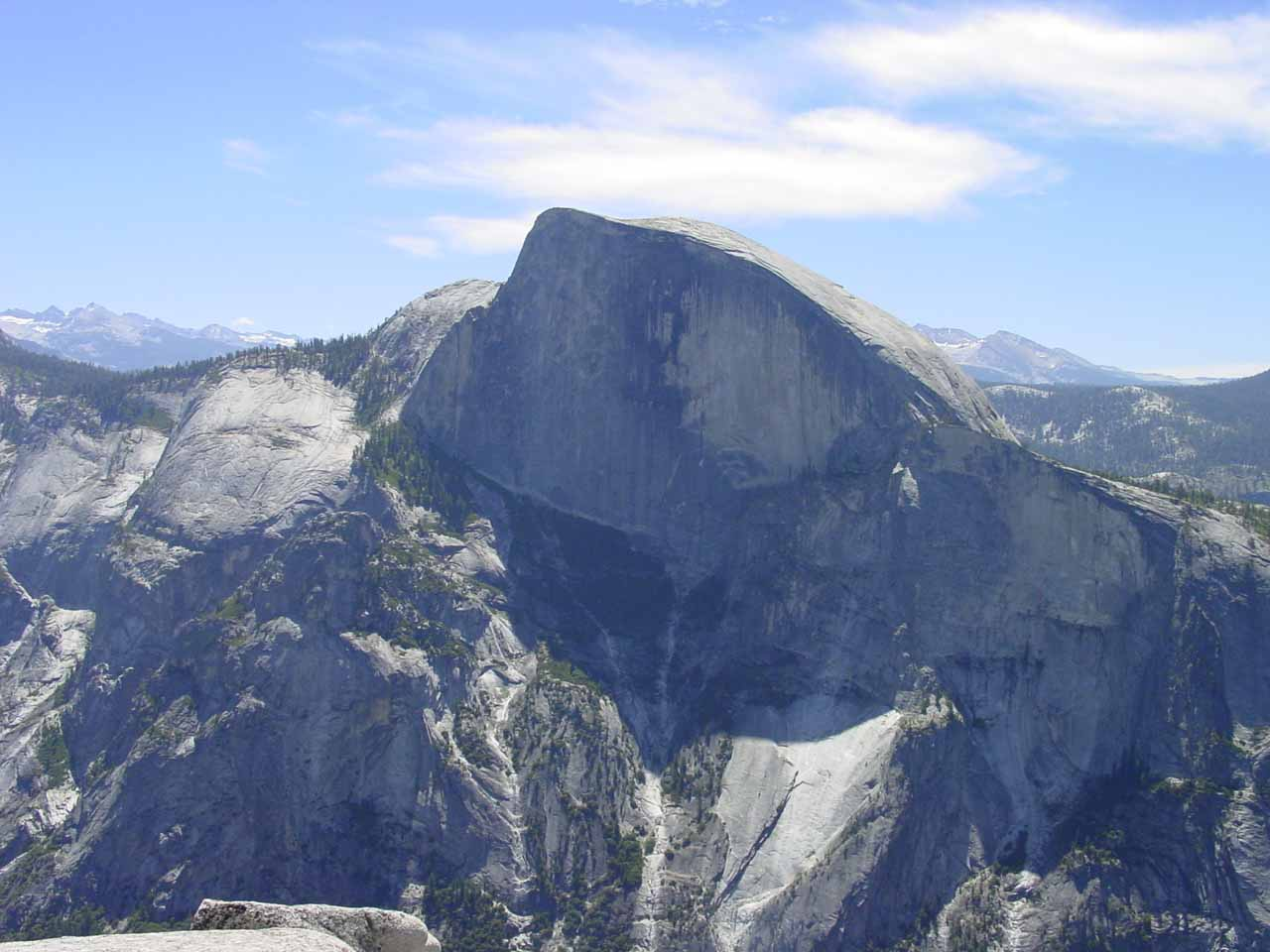 Frontal view of Half Dome from North Dome