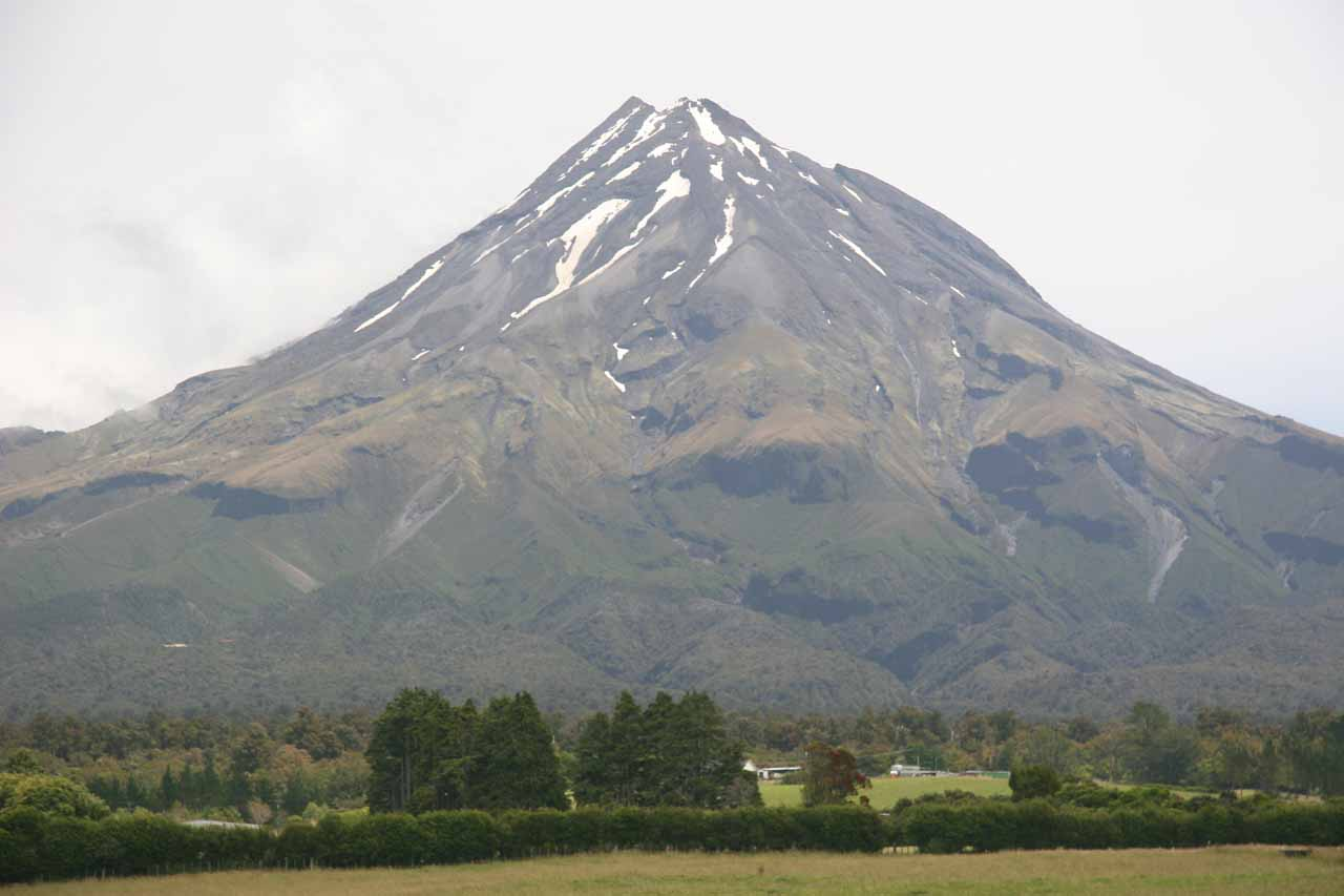 This was the view of Mt Taranaki from its northern slopes near New Plymouth. Curtis Falls was more on the southeastern slopes of this mountain