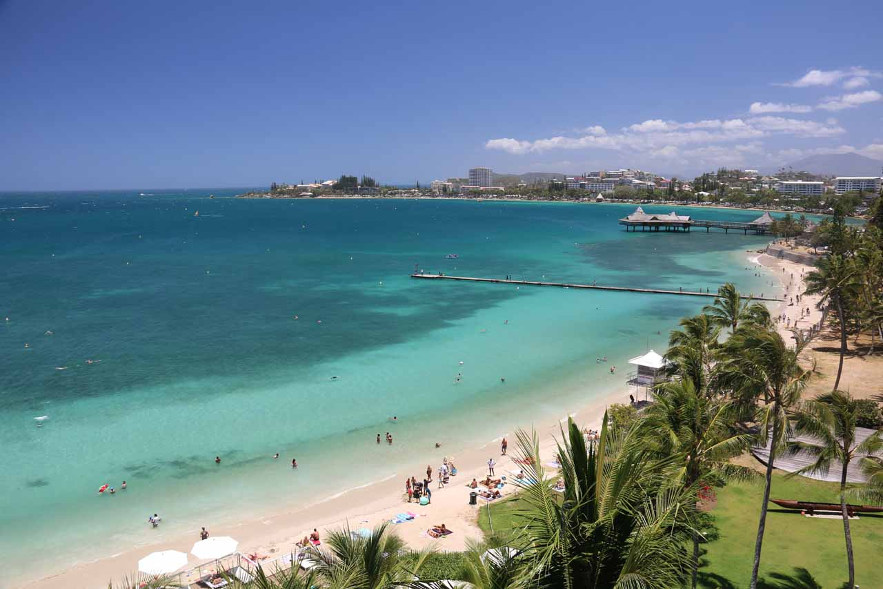 It was roughly a two-hour drive from Noumea to Chute de la Madeleine on the more well-conditioned northern road, but Noumea had the festive and beautiful beach of Anse Vata spanning much of Noumea Sud