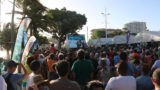 Noumea_196_11282015 - Looking at a lot of people gathered around a podium where the winners of Air Waves 2015 were being honored