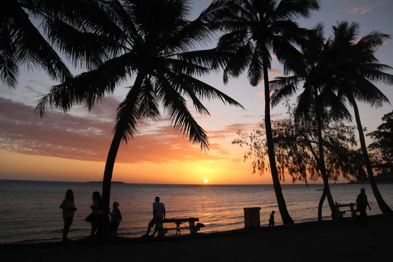 It was roughly a three-hour drive from Noumea to Cascade de Wadiana on the more well-conditioned northern road, but Noumea had the festive and beautiful beach of Anse Vata spanning much of Noumea Sud