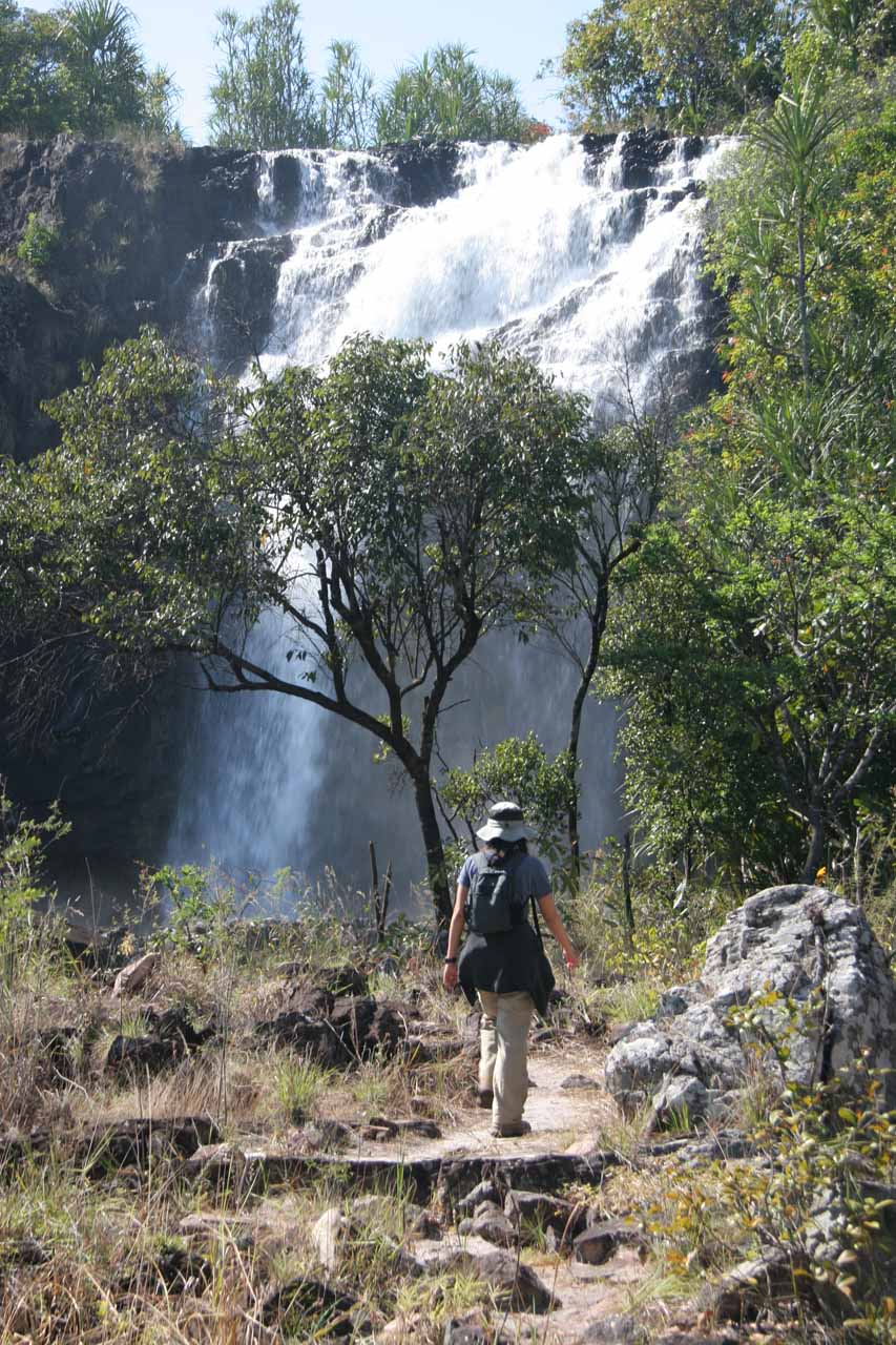 Approaching the second section of the main Ntumbachushi Falls