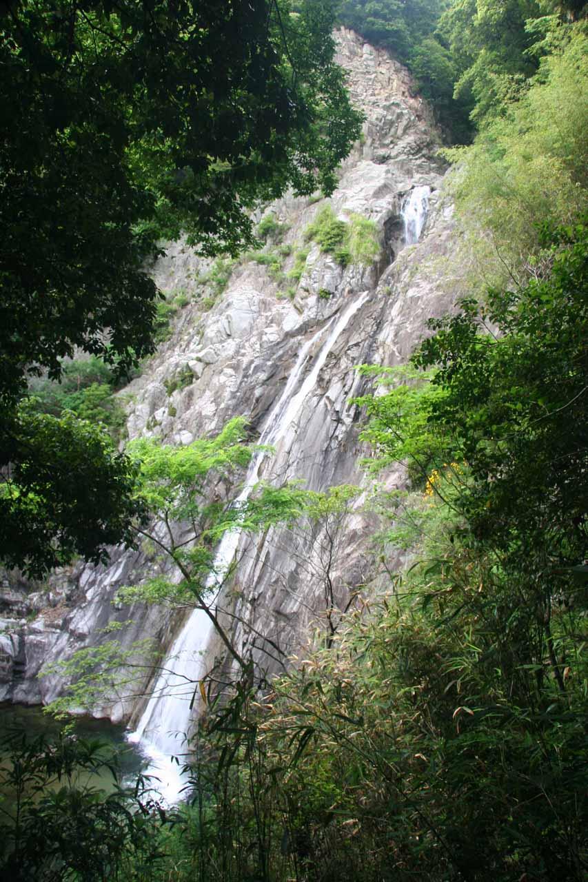 Ascending beyond the fourth Nunobiki Waterfall
