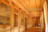 Nymphenburg_058_06302018 - Walking some of the long hallways of the Nymphenburg Palace decked out with gold trims, paintings, and ornate chandeliers