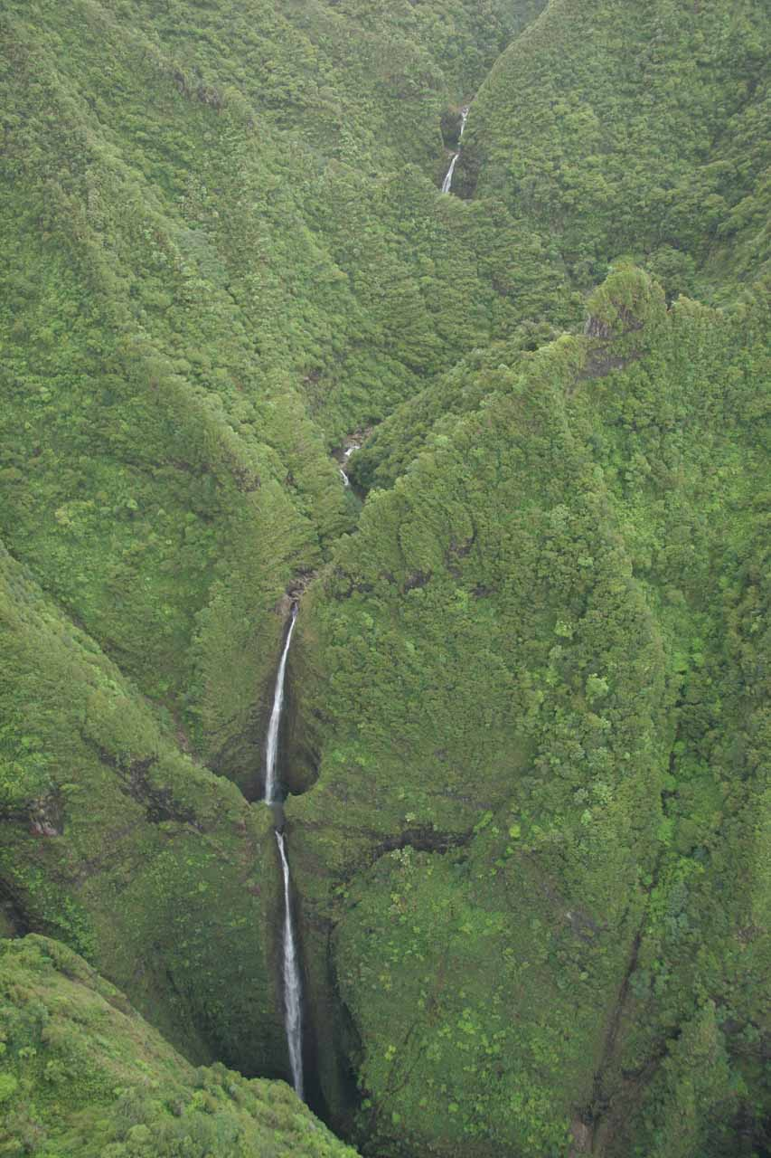 Notice the uppermost tiers of Sacred Falls