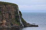 Ocean_Waterfall_telephoto_015_08142021 - Focused look at the profile of Migandifoss as seen through a telephoto lens