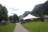 Odda_002_06232019 - Checking out some kind of shelter by the public car park in the town of Odda
