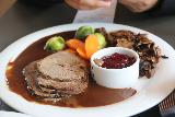 Odda_015_06232019 - Some kind of roast reindeer dish served up at the Smeltehuset in Odda
