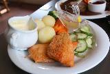 Odda_016_06232019 - Some kind of fish dish served up at Smeltehuset in Odda
