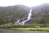 Oddadalen_050_06232019 - Angled view back at Vidfossen while walking along the Rv13