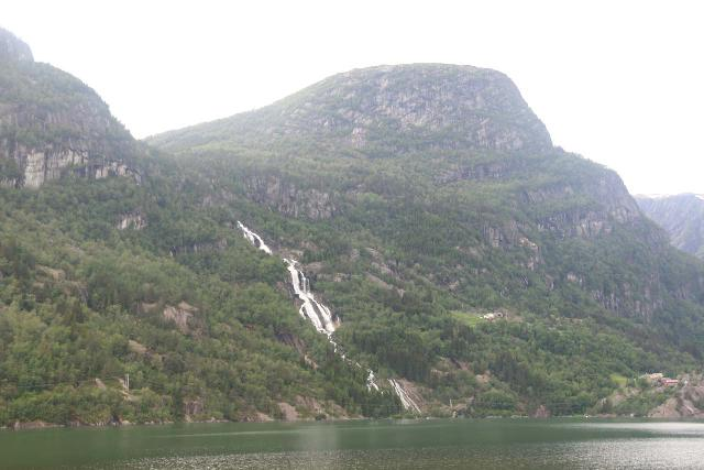 Oddadalen_070_06232019 - Angled view of Strondsfossen as seen from one of the pullouts on the east side of Rv13 during our second visit in June 2019
