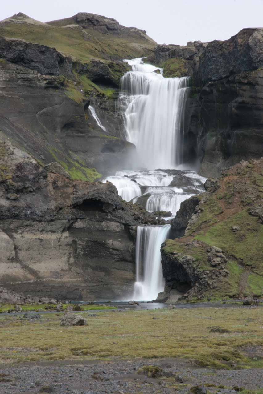 This was as far as I got for a more direct look at Ófærufoss before we had to rush back to the bus