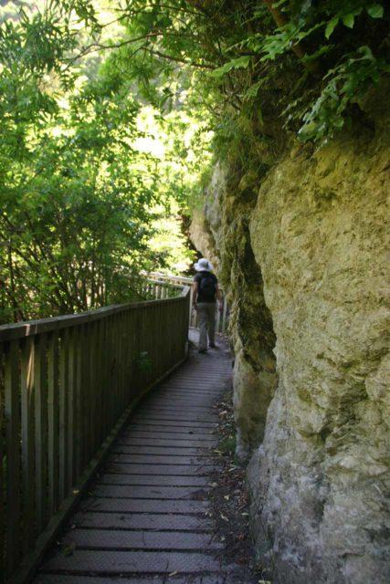Ohau_Stream_004_12312009 - Julie on the well-developed Ohau Stream Walk en route to the Ohau Falls