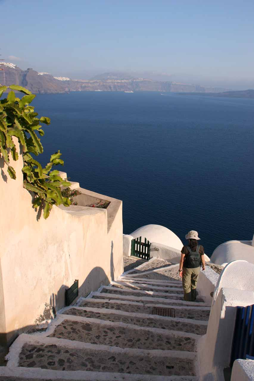 When we had to mix things up a bit (away from waterfalling), we managed to find a way to wander the mysterious paths in Oia, Santorini, Greece