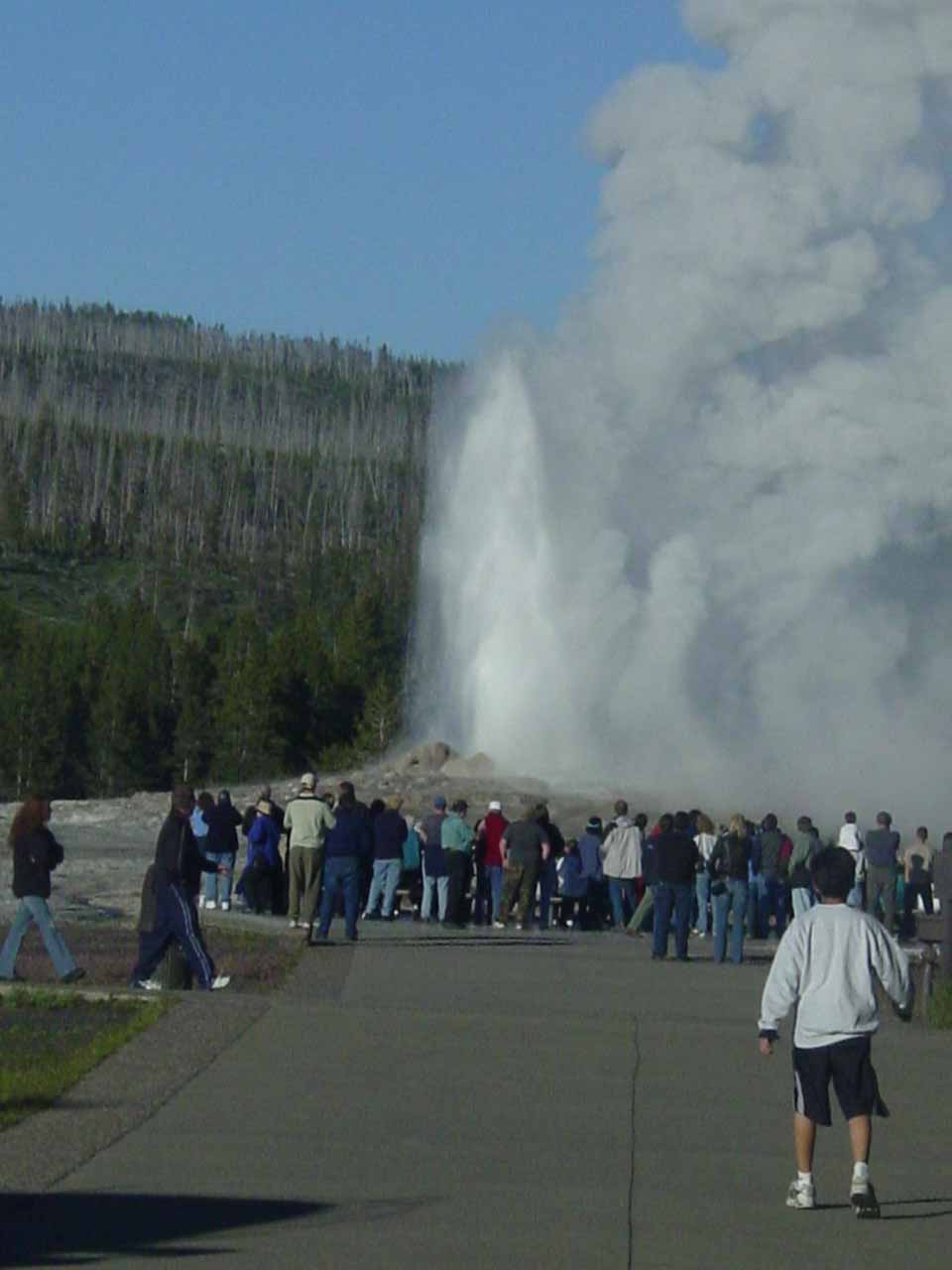 The geyser lost its mojo as we were approaching closer to it